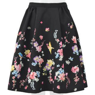 チェスティ(Chesty)のchesty スカート 黒 サイズ0(ひざ丈スカート)