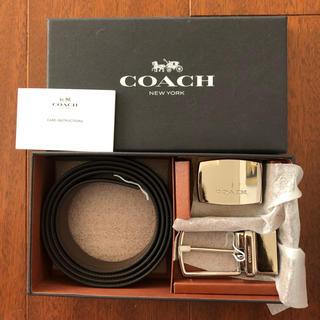 COACH - 新品 コーチ 2way ベルト ブラック ダークブラウン リバーシブル  メンズ