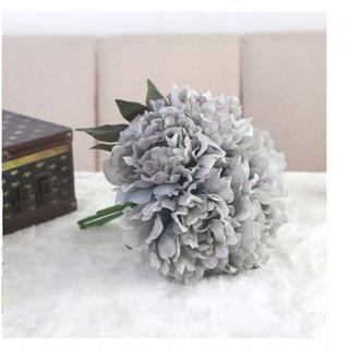 アーティフィシャルフラワー 牡丹 ブルーグレー シルクフラワー 造花(その他)