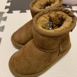 プティマイン(petit main)のムートンブーツ 14cm(ブーツ)