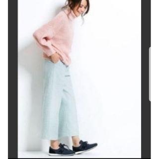 アールユー(RU)の専用 【未使用】アールユー リボン付ワイドパンツ サックス(カジュアルパンツ)