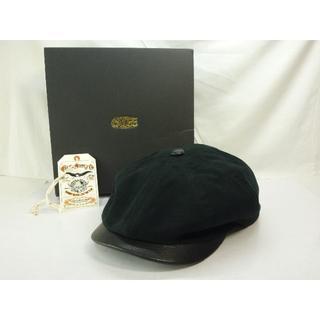 キャリー(CALEE)のCALEE キャリー キャスケット Lサイズ ブラック 帽子(キャスケット)