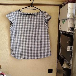 ジーユー(GU)のギンガムチェック半袖シャツ(シャツ/ブラウス(半袖/袖なし))