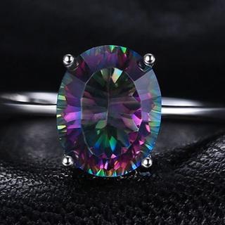 指輪 19号 3.4ct天然石  ミスティックトパーズ  リング(リング(指輪))