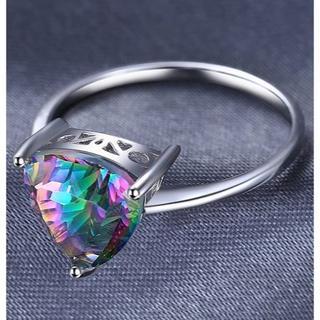 指輪   14号  4.3ct天然石 ミスティックトパーズ  リング(リング(指輪))