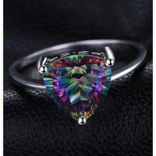 指輪   19号  4.3ct天然石 ミスティックトパーズ  リング(リング(指輪))