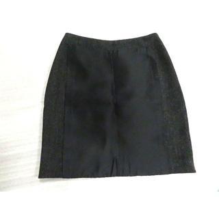 プラダ(PRADA)の定価6万円超 美品 プラダ パッチ スカート 38 ブラック シルク混(ミニスカート)