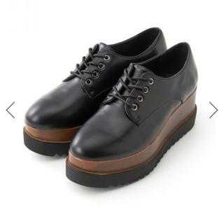 グレイル(GRL)の本日削除!GRL ウッド調ソールレースアップシューズ(ローファー/革靴)
