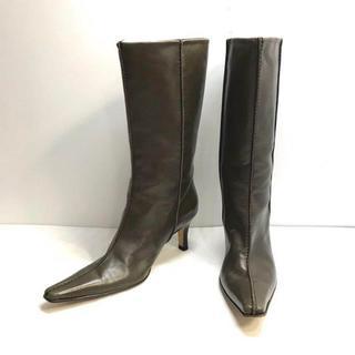 マルニ(Marni)の814 マルニ MARNI レザー ショート ブーツ 37 24cm(ブーツ)