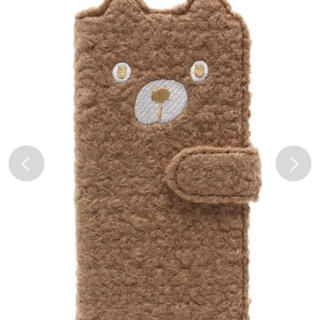 スリーフォータイム(ThreeFourTime)のiPhone6ケース♡もこもこくま♡美品(モバイルケース/カバー)