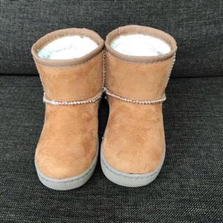 ムジルシリョウヒン(MUJI (無印良品))の無印良品 ベビー・オレンジ ボアブーツ 14〜15cm(ブーツ)
