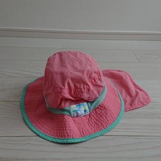 ampersand - アンパサンド ナイロンハット ベビー キッズ 女の子 メッシュ 紐付き ピンク