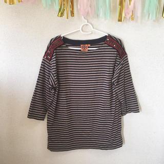 トリーバーチ(Tory Burch)のトリーバーチ ボーダーロンT(Tシャツ(長袖/七分))