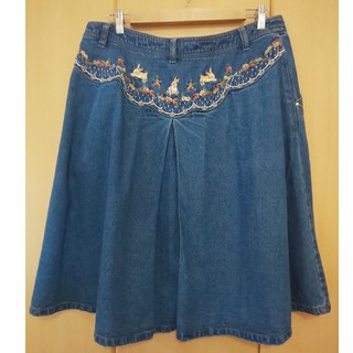 フランシュリッペ(franche lippee)のフランシュリッペFl5 デニムスカート(ひざ丈スカート)
