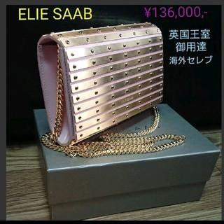 エリーサーブ(ELIE SAAB)の新品♪エリーサーブ ゴールドプレート ショルダーバック パーティーバッグ(クラッチバッグ)