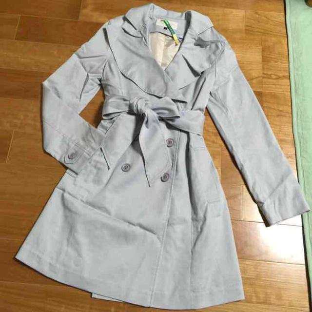 PROPORTION(プロポーション)のアイスブルートレンチコート レディースのジャケット/アウター(トレンチコート)の商品写真