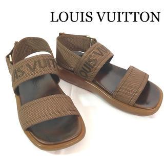 LOUIS VUITTON - ルイヴィトン サンダル ロゴ ストラップ ブラウン 35 1/2 22cm