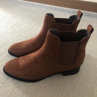 ユニクロ(UNIQLO)のブーツ サイドゴア ショートブーツ 24.5(ブーツ)
