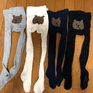 ベビーギャップ(babyGAP)のギャップのお尻クマ柄タイツ4本セット 2〜3才用(靴下/タイツ)