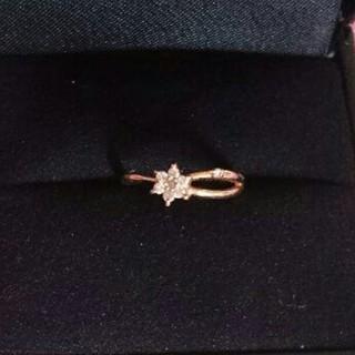 ダイヤモンドリング PG18 指輪8.5号 本物証明書あり(リング(指輪))