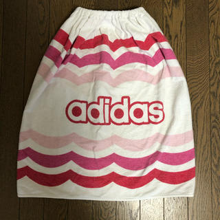 adidas - adidas アディダス ラップタオル 綿100% 日本製 ピンク系 65㎝