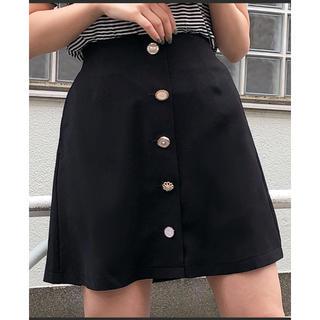 ワンアフターアナザーナイスクラップ(one after another NICE CLAUP)の♡ いろいろ釦台形スカート ♡(ミニスカート)