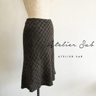 アトリエサブ(ATELIER SAB)のアトリエサブ☆秋物タイトフレアスカート(ひざ丈スカート)