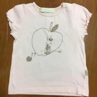 フランシュリッペ(franche lippee)の【100センチ】フランシュリッペ ラ チペット ☆ りんごTシャツ(ピンク)(Tシャツ/カットソー)