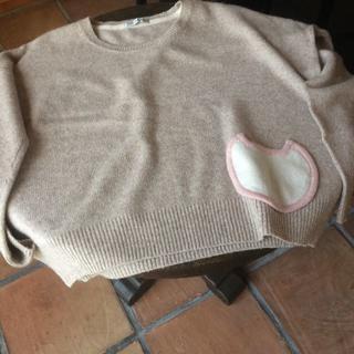 ツモリチサト(TSUMORI CHISATO)のツモリチサトの猫の可愛いポケット付いたセーター(ニット/セーター)