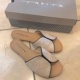 タビタ(TABITA)のSHIPS購入★TABITAパイピングサンダル 38  24.5cm 美品(サンダル)