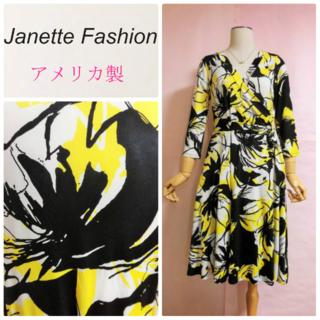 アーモワールカプリス(armoire caprice)の【Janette Fashion】とろみワンピース☆ストレッチ(ひざ丈ワンピース)