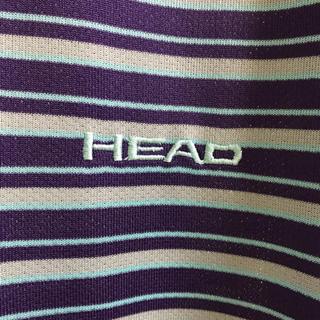 HEADパープルグレースカイブルーマルチボーダーチュニックホワイトドロスト(チュニック)