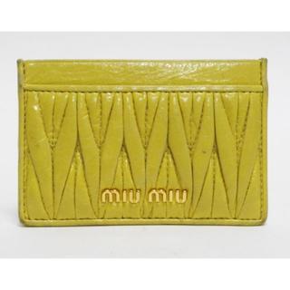 ミュウミュウ(miumiu)のmiumiuミュウミュウ カードケース マテラッセ 良品 正規品(名刺入れ/定期入れ)