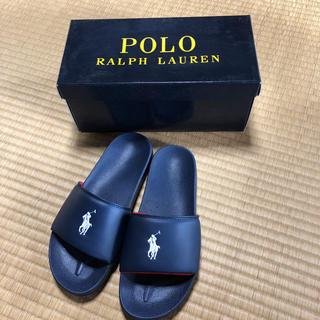 ポロラルフローレン(POLO RALPH LAUREN)の新品未使用 ポロラルフローレン サンダル 24 ネイビー(サンダル)