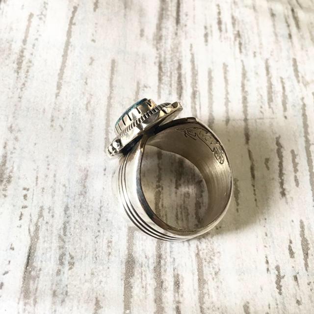 Indian(インディアン)の◊ ナバホ ◊ ウィルバンデバー◊ターコイズ リング◊インディアンジュエリー◊ メンズのアクセサリー(リング(指輪))の商品写真