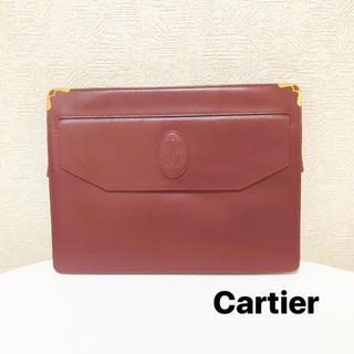 カルティエ(Cartier)のカルティエ クラッチバッグ レザー レッド(クラッチバッグ)