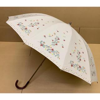 シビラ(Sybilla)のシビラ 晴雨兼用日傘  花柄一部刺繍デザイン(傘)
