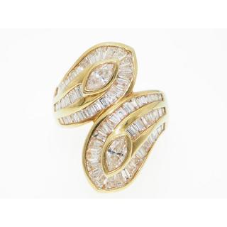 【3.17ctsダイヤモンドリング】K18 【サイズ直し無料】(リング(指輪))