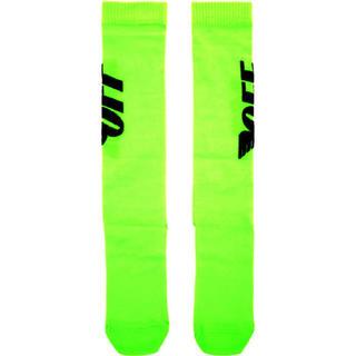 オフホワイト(OFF-WHITE)のOff white wing socks green ssense購入品 (ソックス)