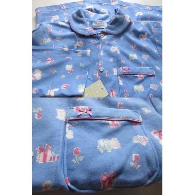 narue(ナルエー)の新品ナルエー コットンスムース ゆったり セットアップ プレゼント ねこ  レディースのルームウェア/パジャマ(パジャマ)の商品写真