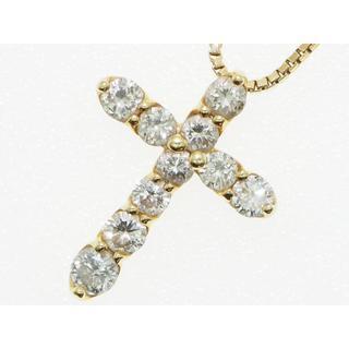 【鑑別書】1.00Cts.ダイヤモンド クロスペンダント【保証書】(ネックレス)