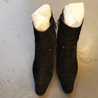 シャネル(CHANEL)のシャネル ショートブーツ 黒(ブーツ)