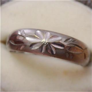 即購入OK●V028シンプル手彫り?ヴィンテージシルバーカラーリング指輪重(リング(指輪))