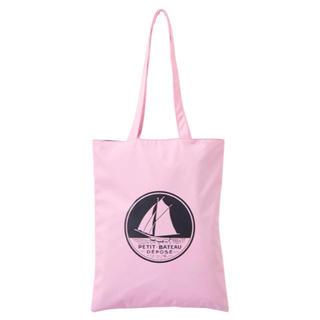 プチバトー(PETIT BATEAU)の新品未使用 プチバトー ロゴ入りトートバッグ ピンク(トートバッグ)