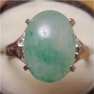 即購入OK♡V067昭和レトログリーンストーンのシルバーカラーリングヴィンテージ(リング(指輪))