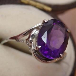 即購入OK♡V026アメジストのようなパープル紫ヴィンテージリング指輪(リング(指輪))