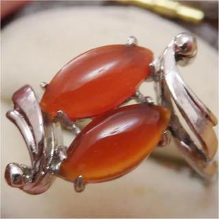 即購入OK♡V016赤瑪瑙アカメノウのような昭和レトロリング指輪(リング(指輪))
