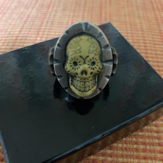 ルードギャラリー(RUDE GALLERY)のチバユウスケ着用モデル カオスデザイン メキシカンリング(リング(指輪))