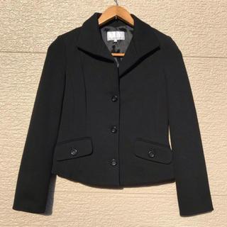 エムプルミエ(M-premier)のM-PREMIER エムプルミエ ジャケット 黒 ブラック カシミヤ混 34(テーラードジャケット)