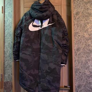 ナイキ(NIKE)のNIKE カモフラージュ  ロングコート ベンチコート グレー  XL 新品(モッズコート)